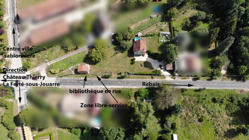vue aérienne de l'emplacement de Plantavert à Sablonnières